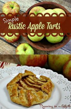Rustic Apple Tart/ Running in a Skirt Simple Rustic apple tart.  Made with a shortcut and option for large or small tarts! www.RunninginaSkrt.com
