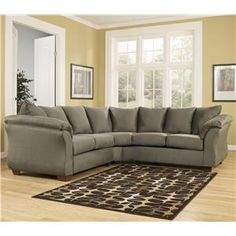 Signature Design by Ashley Furniture Darcy - Sage Sectional Sofa