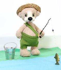 Handmade Teddy Bear Fisher / Artist Teddy Bear / Hand by TaniaSh