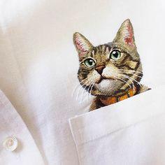 Comme chat et chemise, une idée de Hiroko Kubota !