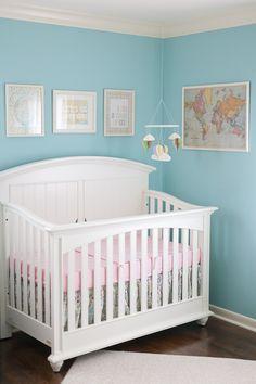travel inspired nursery. very sweet.