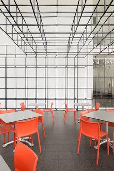 johnston marklee infills MCA chicago with gridded mezzanine