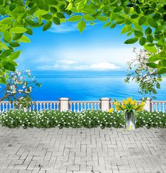 >> Click to Buy << Allenjoy 10*20feet(300*600CM) photography background fotografia photo background Plant flowers of the sea photography backdrops #Affiliate
