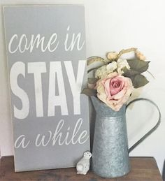 "▲ SIGN INFORMATION ▲ • SIZE SHOWN: 12"" wide x 24"" tall • COLOR SHOWN: Light gray background with white letters. • This listing is for a MADE TO ORDER wood sign. Your sign will ship in 3-5 business day"