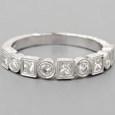Art Deco Wedding Band Diamonds.