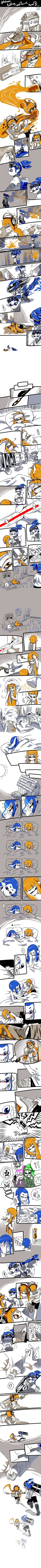 [Splatoon] Pudding and Donut long comic part3 by zzoza