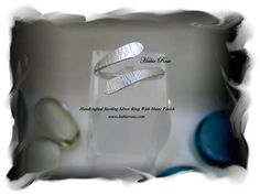 Handcrafted sterling silver ring with matte finished front.