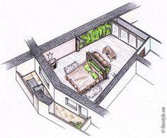 Картинки по запросу нестандартные планировки спальни