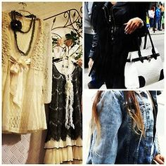 London Love #camden #street #style #denim #ombre #leather #fur #bag #vintage #pearls #dress #lace