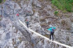 The Via Ferrata at Mount Norquay is the latest addition to a line-up of adventures in Banff National Park. Two and four hour tours are offered from June to Sept. Camping And Hiking, Hiking Trails, Backpacking, Banff National Park, National Parks, Alberta Travel, Banff Canada, Alberta Canada, Hiking Places