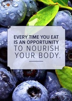 Every time you eat it's a chance to nourish your body - motivational poster Eat clean  Physical fitness  Weight loss