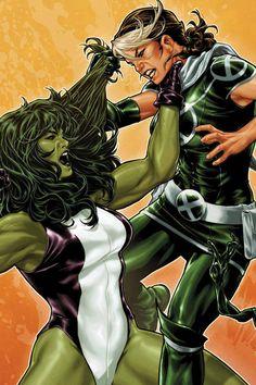 She-Hulk vs. Rogue