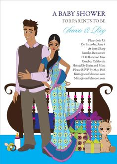 Seemantham Traditional South Indian Hindu Baby Shower Invite By