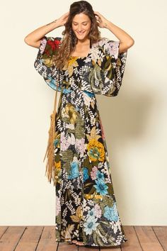 vestido com manga poliana max