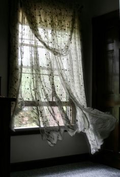 I feel like a kid again ... when I see the curtains flutter from the spring/summer breezes