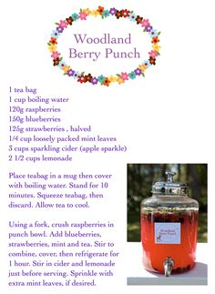 Woodland berry punch