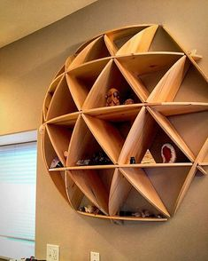 Definitely want yo use this for all of the dumb trinkets I have. - From @summersdesignllc. This shelf really brings things full circle (or maybe half). Tag a friend who'd love this! #bestIGwoodworking : @tysteezens