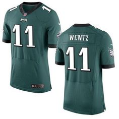 Philadelphia Eagles  11 Carson Wentz Nike Green Elite 2016 Draft jerseys  from… Nfl Football da6ab35b4
