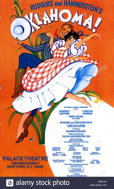 OKLAHOMA poster for the original 1943 Broadway stage production Stock Photo - Alamy