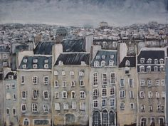 Paris rooftop by MarieArtist. This is one of my favorite paintings... sold!