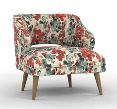 Bunk Room Chair SWATCH: Mallory Chair in CasaBlanca Geo Citrine