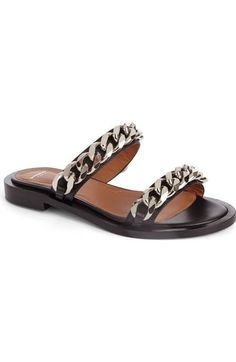 Givenchy Double Chain Slide Sandal (Women) available at #Nordstrom