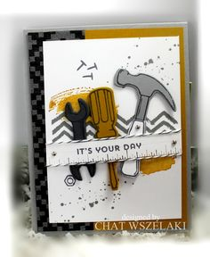 I'd like to start my week with a masculine card from the Occasions Catalog.This card is a perfect card for the man in your life or someone special for that matter. Masculine Birthday Cards, Birthday Cards For Men, Masculine Cards, Man Birthday, Stampin Up Karten, Stampin Up Cards, Boy Cards, Stampinup, Fathers Day Cards