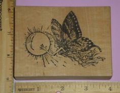 FLYING WOMAN BUTTERFLY FAIRY WITH CRYSTAL BALL rubber stamp VIP VISUAL IMAGE!