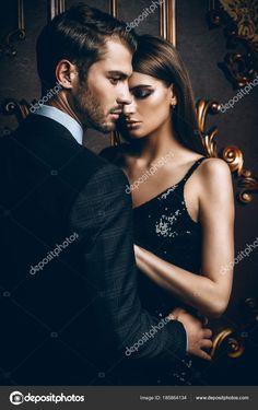 Sexual passionate couple in elegant evening dresses. Classy Couple, Elegant Couple, Dark Photography, Couple Photography, Engagement Photography, Superstar, Boat Wedding, Wedding Shoot, Passionate Couples