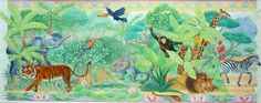 'Jungle' illustration commissioned by Laura Ashley.