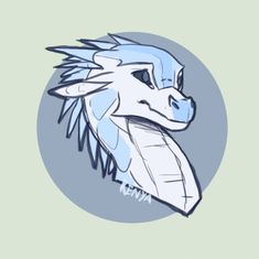 headshot Hvitur by KenyaJoy on DeviantArt Cute Dragon Drawing, Dragon Sketch, Dragon Drawings, Wings Of Fire Dragons, Cool Dragons, Animal Sketches, Animal Drawings, Art Sketches, Mythical Creatures Art