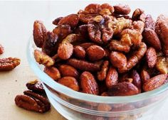 Slow Cooker Cinnamon & Honey Nuts... the easiest and most delicious snack;). #cinnamonandhoneynuts #crockpotnuts