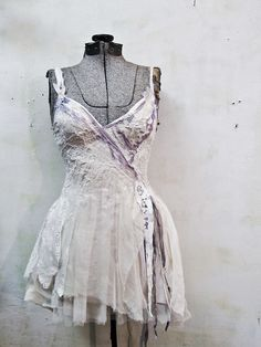 a tattered patchwork of antique linen, lace, and lavender. Pretty Outfits, Pretty Dresses, Cool Outfits, Fashion Outfits, Fairy Dress, I Dress, Marla Singer, Fairy Clothes, Quirky Fashion