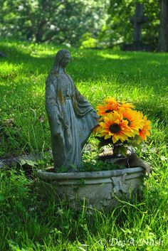 The Blessed Mother at Riverside Cemetery in Asheville, NC