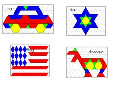 Free Pattern Block Templates  Worksheets  Printables For PreK