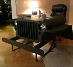Man-Cave= Jeep-desk