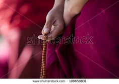 prayer beads in monk's hand, Lhasa, Tibet. Le Tibet, Lhasa, Prayer Beads, Illustrations, Traditional Outfits, Prayers, Spirituality, Images, Stock Photos