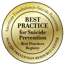 American Foundation for Suicide Prevention – Best Practice for Suicide Prevention seal
