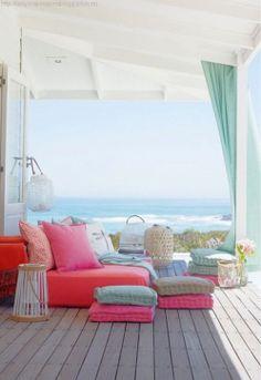 Vibrant colors ~ Beachside living