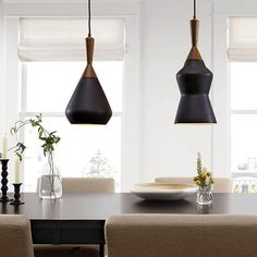 Porcelain pendants, made exclusively for Room & Board by KleinReid.