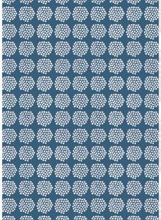 Puketti organic cotton fabric by Marimekko Design Textile, Textile Patterns, Fabric Design, Pattern Design, Print Patterns, Blue Patterns, Vintage Patterns, Textiles, Marimekko Fabric