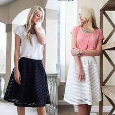 There are LOTS of new markdowns today including these flare skirts, now $24.99!! Head to our website and look under the sale tab to see all the deals! Happy shopping Bellas! || Bella Ella Boutique
