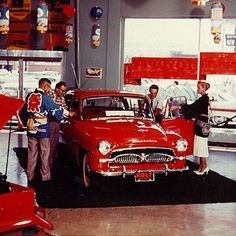 Lights, camera, action! In 1958 Toyota sold its first car in the U.S., a Toyopet Crown, out of a Hollywood dealership.