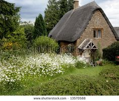 english cottages | English Cottage With Flowers Stock Photo 13570588 : Shutterstock