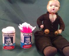 Gerber baby food can, Gerber baby, Nursery storage, baby nursery, Nursery decor, baby shower favors, baby food tin, vintage tin, party favor by Vintagepetalpushers on Etsy