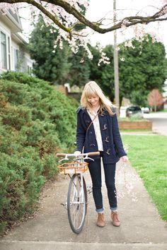 cute girl. cuter bike. :D
