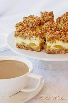 Kawowy śmietanowiec z gruszkami Polish Desserts, Polish Recipes, Polish Food, Cake Cookies, Cupcake Cakes, Sweet Life, No Bake Cake, Baking Recipes, Delish