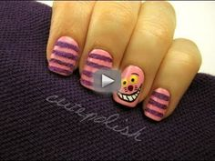 Cheshire Cat Nails (They're actually FUZZY!) - facebook.com/cutepolish   twitter: @cutepolish   instagram: cutepolish  Helloooo I had some lovely viewers request for Alice in Wonderland and Cheshire Cat nails on Facebook! I thought it was a fun idea so I ran with it and here is what I came up with! I hope you enjoy :)  PRODUCTS USED: OPI Pink Friday  Music by: Kevin