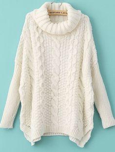 Negozio Bianca maglia con collo alto e lunghe maniche on-line. SheIn offre Bianca maglia con collo alto e lunghe maniche & di più per soddisfare le vostre esigenze di moda.