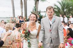 This ceremony exit captured by Catherine Rhodes is hilariously adorable!